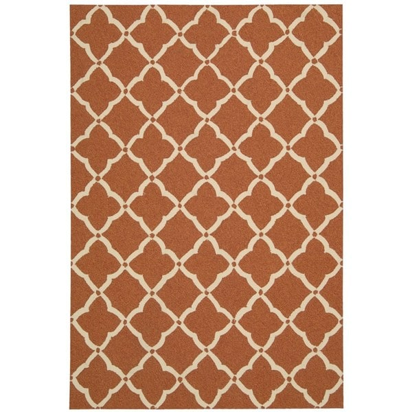 Nourison Portico Orange Indoor/ Outdoor Area Rug (8' x 10'6)
