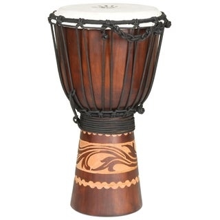 Handmade Kalimantan Travel-size Djembe Drum (Indonesia)