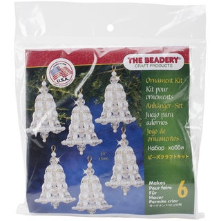 Holiday Beaded Ornament Kit-Crystal & Pearl Bell