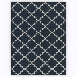 Mohawk Home Soho Fancy Trellis Navy Area Rug (7'6 x 10')