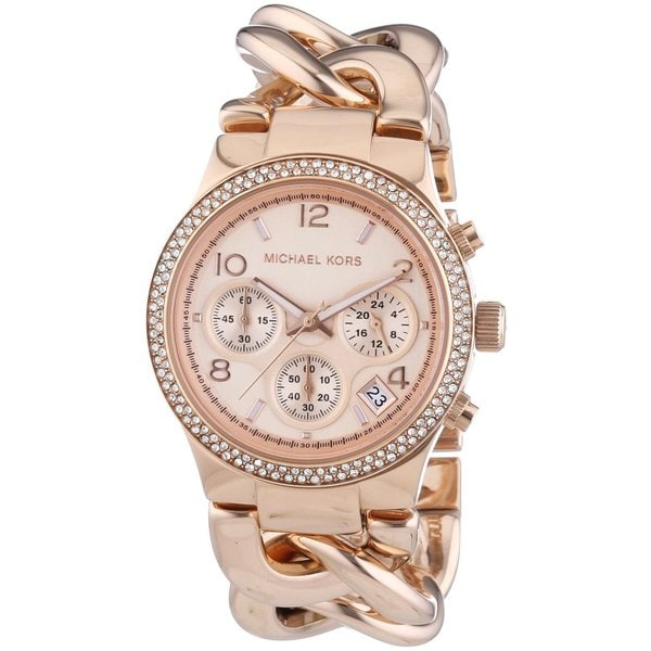 5bdc271f06bc Shop Michael Kors Women s MK3247 Runway Twist Rosegold Watch - Free ...