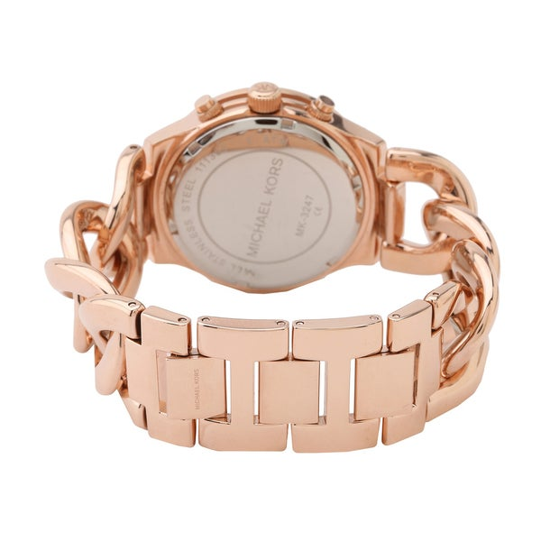 Shop Michael Kors Women's MK3247 Runway Twist Rosegold Watch