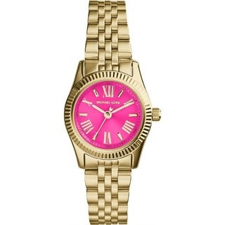Michael Kors Women's MK3270 Mini Lexington Pink/ Goldtone Watch