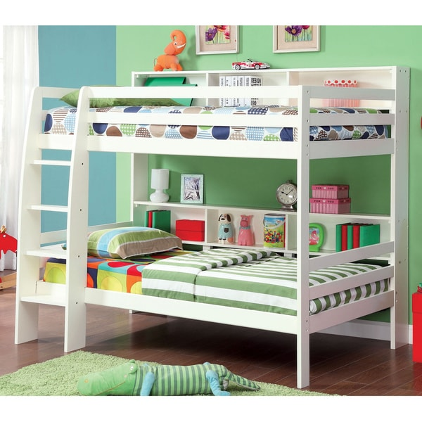 furniture of america renaive modern twin over twin bunk bed - free