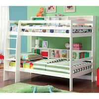 Furniture of America Renaive Modern Twin over Twin Bunk Bed