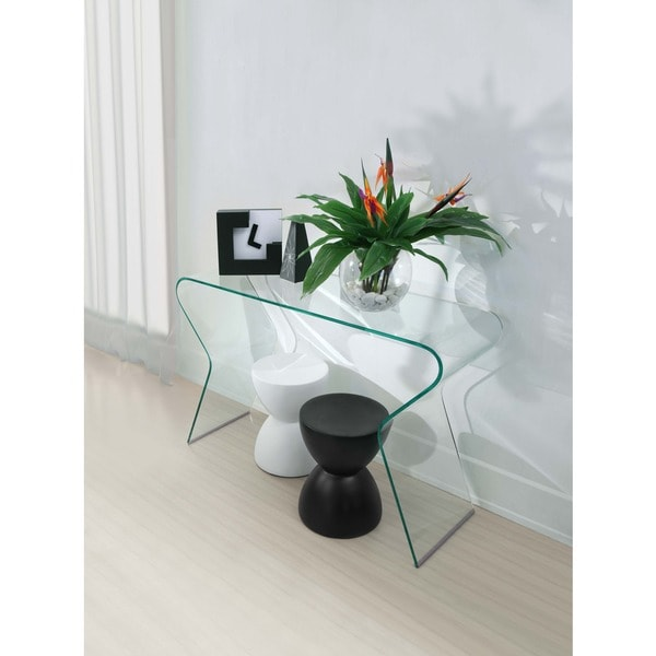 Nice Zuo Respite Clear Glass Console Table