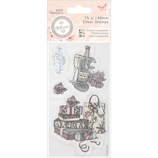 Papermania Bellisima Mini Clear Stamps 75x140mm-Celebrate
