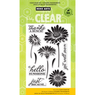Hero Arts Clear Stamps 4inX6in Sheet-Hello Sunshine Daisies