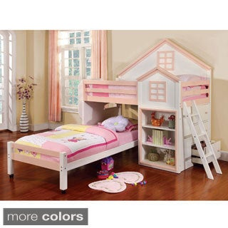 Furniture of America Ecandor House Inspired Youth Loft Bed