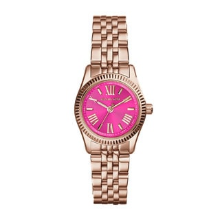 Michael Kors Women's MK3285 Mini Lexington Pink Rose Goldtone Watch