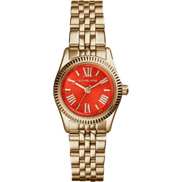 6c0492c81032 Shop Michael Kors Women s Mini Lexington Orange Goldtone Plated Watch - Free  Shipping Today - Overstock - 9194252