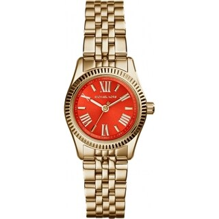 Michael Kors Women's Mini Lexington Orange Goldtone Plated Watch
