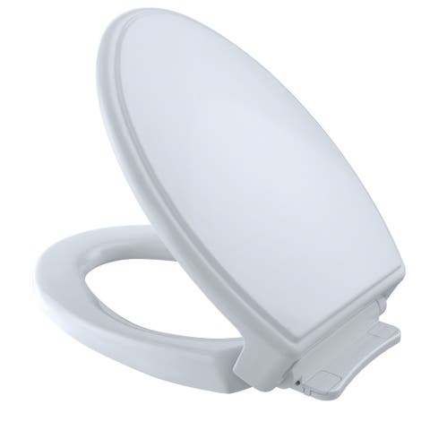 Toto Traditional SoftClose Non Slamming, Slow Close Elongated Toilet Seat and Lid, Cotton White (SS154#01)