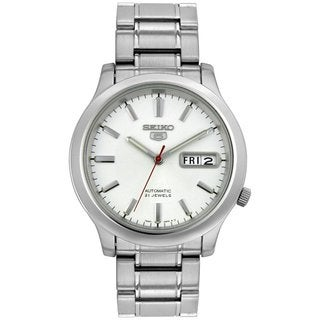 Seiko Men's 5 Automatic SNK789K Silvertone Stainless Steel Automatic Watch