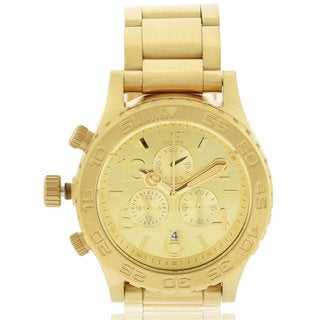Nixon Men's 42-20 A037502 Gold Stainless-Steel Quartz Watch with Gold Dial
