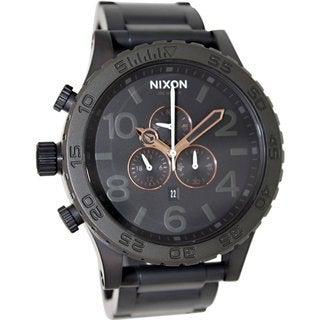 Nixon Men's 51-30 Chrono A0831530 Black Stainless Steel Quartz Watch with Black Dial