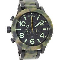 Nixon Men's 51-30 Chrono A0831428 Multicolor Stainless Steel Quartz Watch with Black Dial