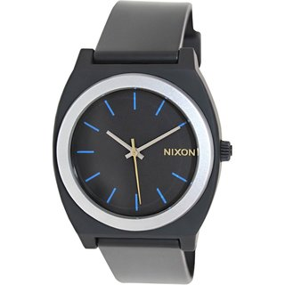Nixon Men's Time Teller P A1191529 Black Plastic Quartz Watch with Black Dial