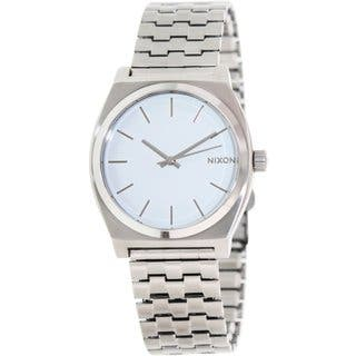 Nixon Men's Time Teller A045100 Silvertone Stainless Steel Quartz Watch|https://ak1.ostkcdn.com/images/products/9194315/P16367264.jpg?impolicy=medium