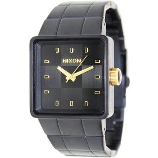 Nixon Men's Quatro A0131041 Black Stainless Steel Quartz Watch with Black Dial