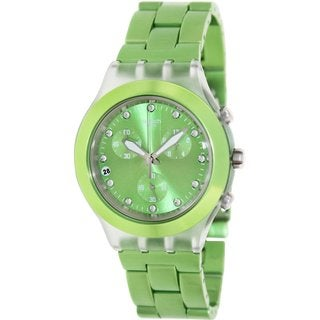 Swatch Women's Full Blooded SVCK4071AG Green Aluminum Swiss Quartz Watch with Green Dial