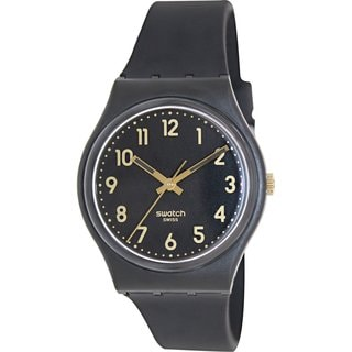 Swatch Men's Originals GB274 Black Plastic Swiss Quartz Watch with Black Dial