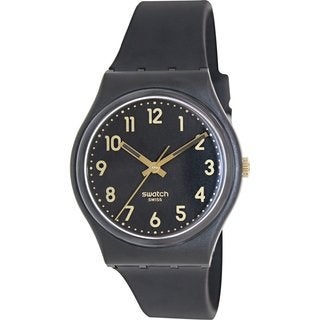 Swatch Men's Originals GB274 Black Plastic Swiss Quartz Watch with Black Dial