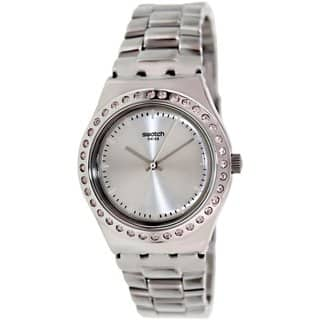 Swatch Women's Irony YLS172G Silvertone Stainless Steel Swiss Quartz Watch with Silvertone Dial|https://ak1.ostkcdn.com/images/products/9194360/P16367300.jpg?impolicy=medium