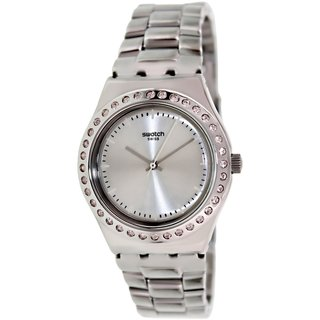Swatch Women's Irony YLS172G Silvertone Stainless Steel Swiss Quartz Watch with Silvertone Dial