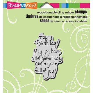 Stampendous Cling Rubber Stamp 3.5inX4in Sheet-Delightful Birthday