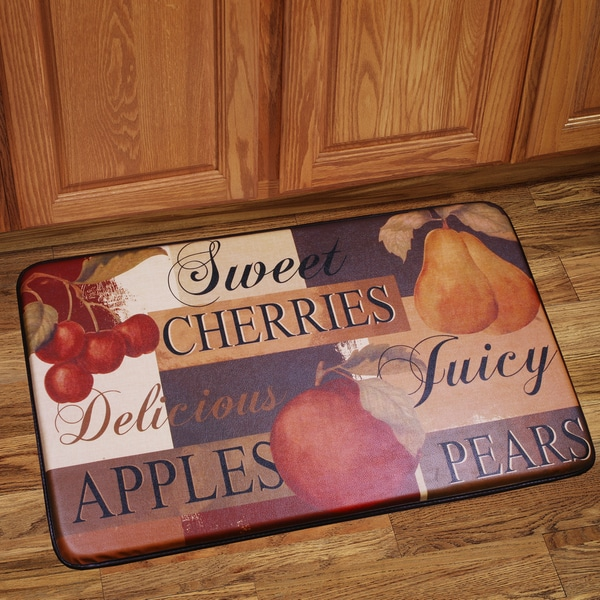 memory foam kitchen floor mat shop memory foam scrumptious fruit design kitchen floor 9139