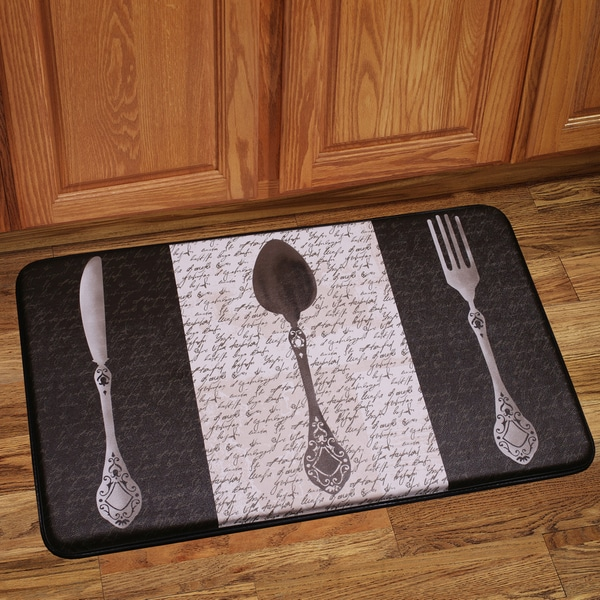 Shop Anti Fatigue French Utensils Design Kitchen Floor Mat - Free ...