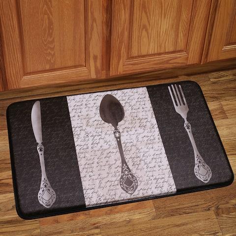 Anti Fatigue French Utensils Design Kitchen Floor Mat