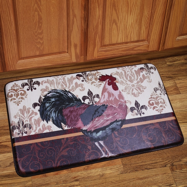 designer kitchen floor mats shop memory foam rooster design kitchen floor mat free 6636