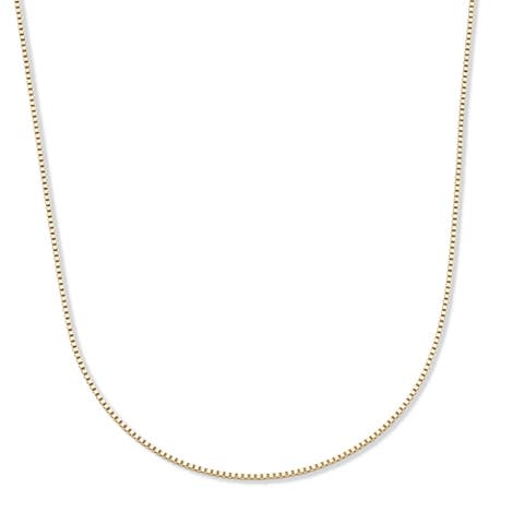 """14k Yellow Gold Box-Link Chain Necklace 18"""" Tailored"""
