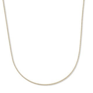 """PalmBeach 14k Yellow Gold Box-Link Chain Necklace 18"""" Tailored"""