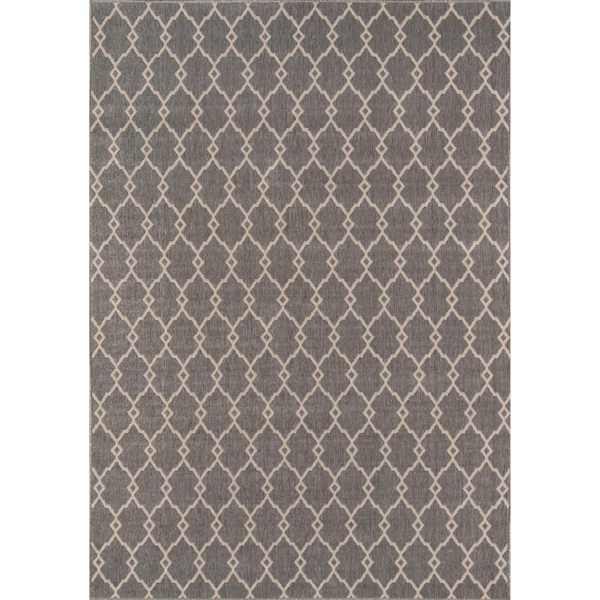 Momeni Baja Trellis Grey Indoor/Outdoor Area Rug (8'6 x 13')