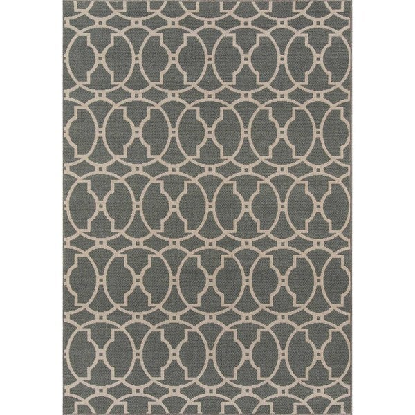 "Momeni Baja Moroccan Tile Grey Indoor/Outdoor Area Rug - 7'10"" x 10'10"""