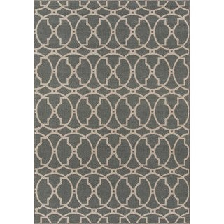 Indoor/ Outdoor Moroccan Tile Grey Rug (7'10 x 10'10)