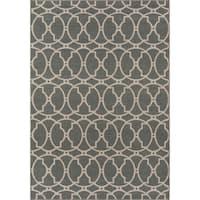 "Momeni Baja Moroccan Tile Grey Indoor/Outdoor Area Rug - 7'10"" x 10'10"""