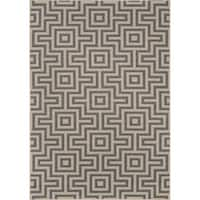 "Momeni Baja Retro Grey Indoor/Outdoor Area Rug - 7'10"" x 10'10"""