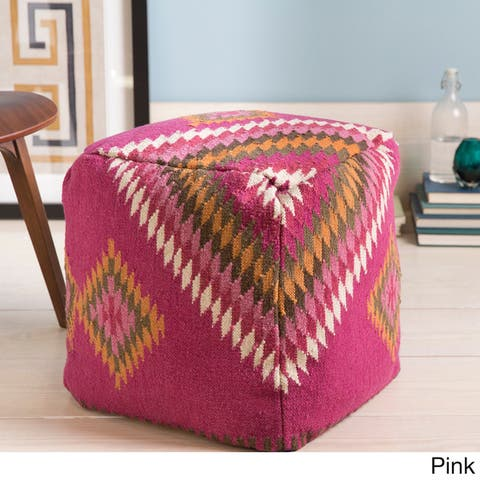 Buy Pink Square Pouf Throw Pillows Online At Overstock