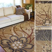 Hand-tufted Windy Floral Wool Area Rug - 4' x 6'