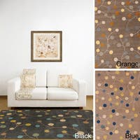 Hand-tufted Gum Drop Floral Wool Area Rug (4' x 6')