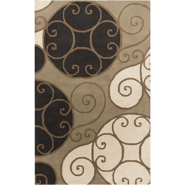 Porch & Den Farrar Hand-tufted Wool Abstract Area Rug - 4' x 6'