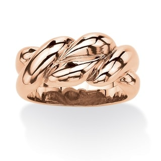 Braided Ring in Rose Gold-Plated Tailored