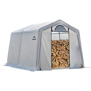 ShelterLogic Clear PE and Steel Seasoning Shed