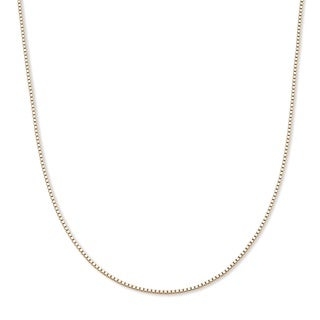 "PalmBeach Venetian Box-Link Chain in 10k Gold 20"" Tailored"