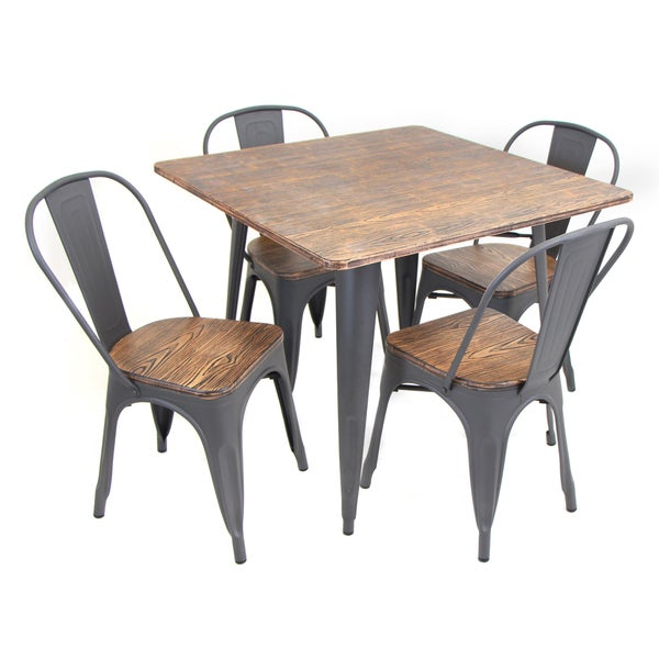 Oregon 5-piece Modern Industrial Dining Set - Free Shipping Today ...