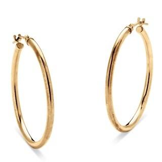 PalmBeach 10k Yellow Gold Hoop Earrings 30 mm Tailored
